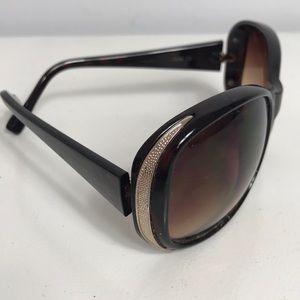 Jessica Simpson Brown Sunglasses Gold Color Trim